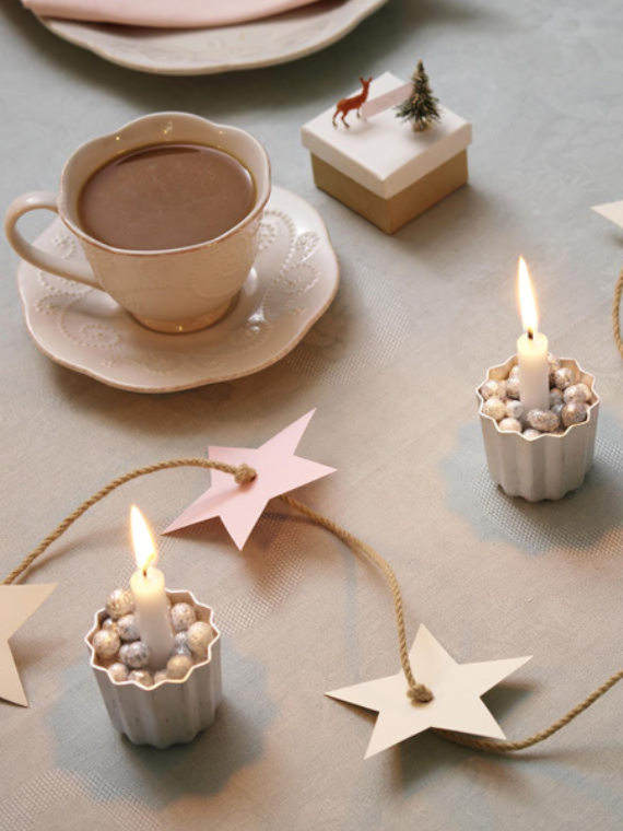 DIY Christmas Table Setting& Centerpieces Ideas (7)