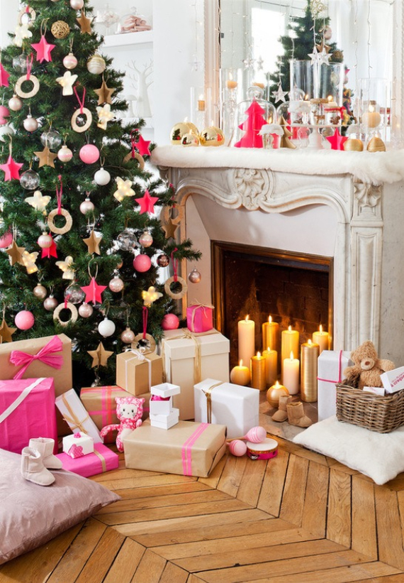 Fairy Dining Christmas Decor In Pink And Gold  (2)