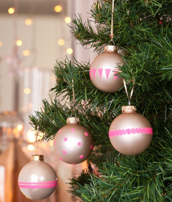 Fairy Dining Christmas Decor In Pink And Gold  (7)