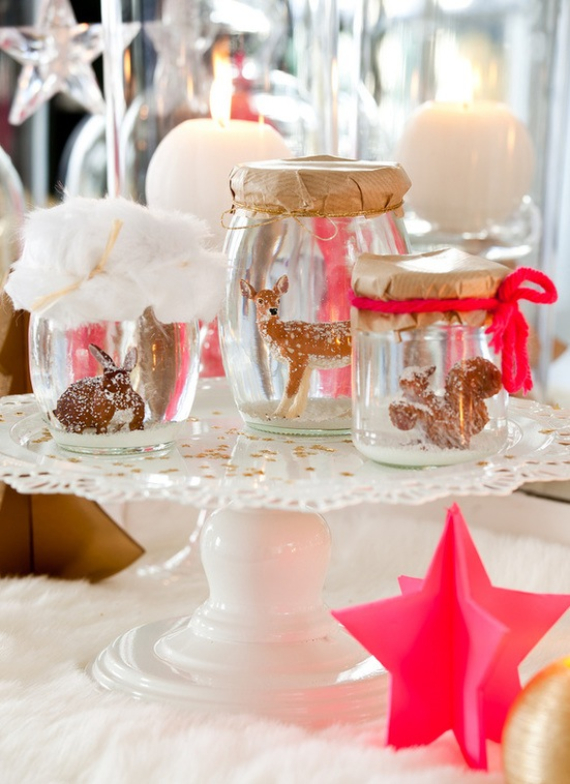 Fairy Dining Christmas Decor In Pink And Gold  (9)
