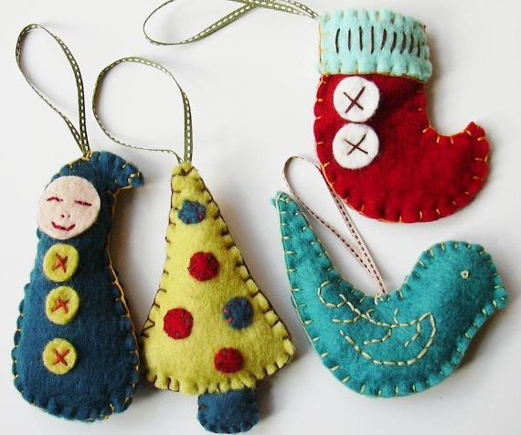 Polymer Clay Christmas Holiday Decoration · Deck Your Halls with Felt Christmas Crafts ...