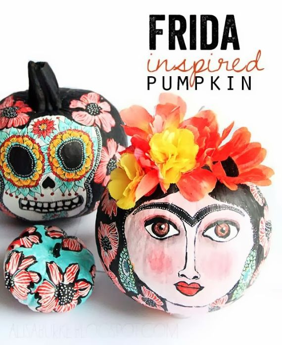 30 Handmade Halloween Pumpkin Craft Decoration Ideas (1)