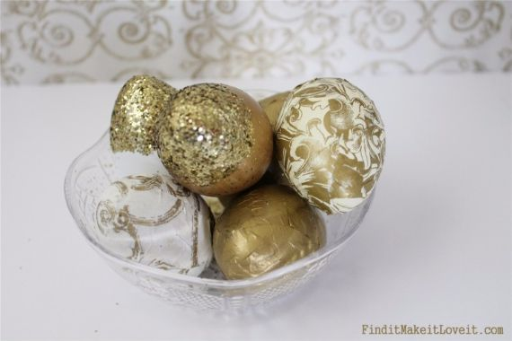 Creative Easter Decorations In Black, White And Gold (2)
