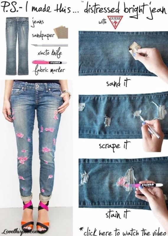 Clever Recycling Handmade Projects Ideas from Old Jeans (3)