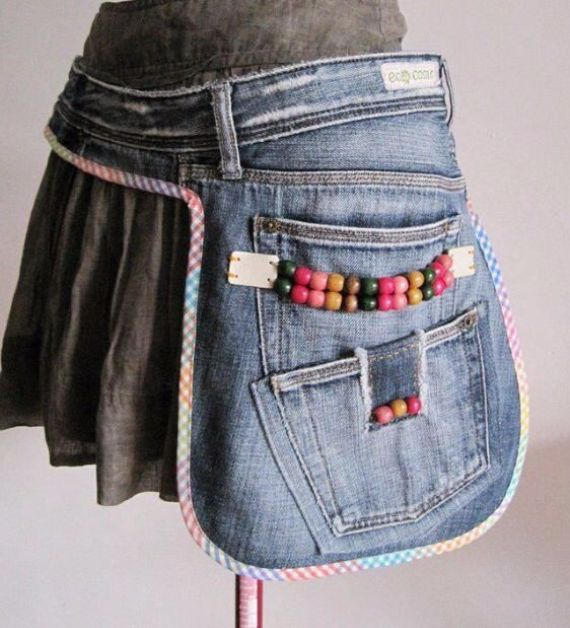 Clever Recycling Handmade Projects Ideas from Old Jeans (5)