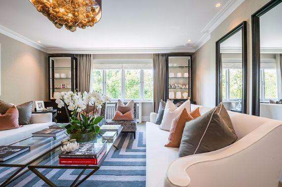 Luxury Italianate living room