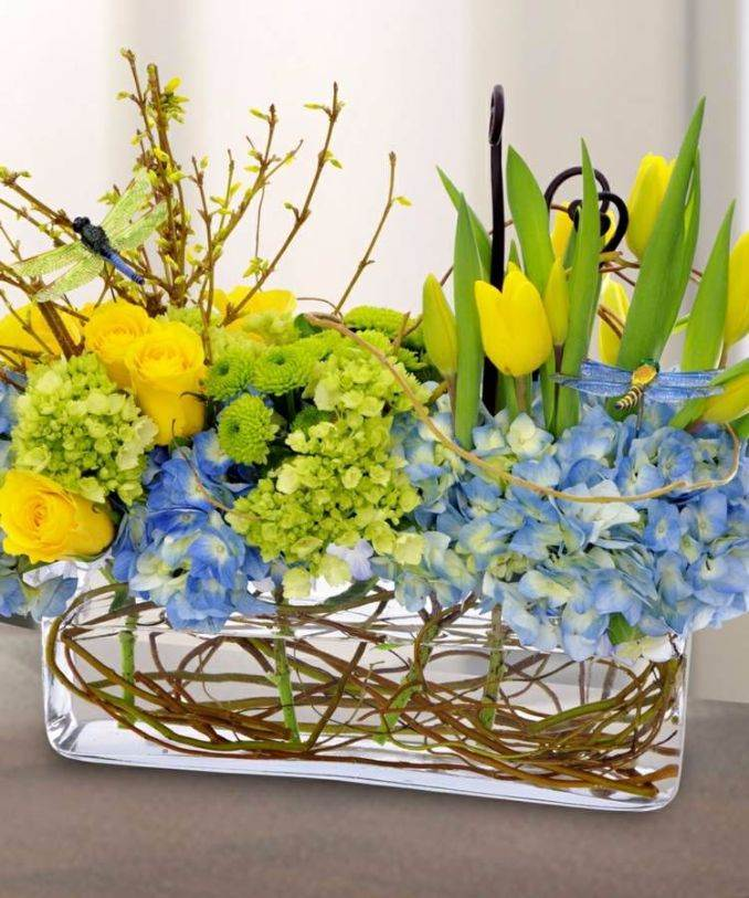 Bright and Easy Spring flower arrangement Ideas for Home D_رcor (10)