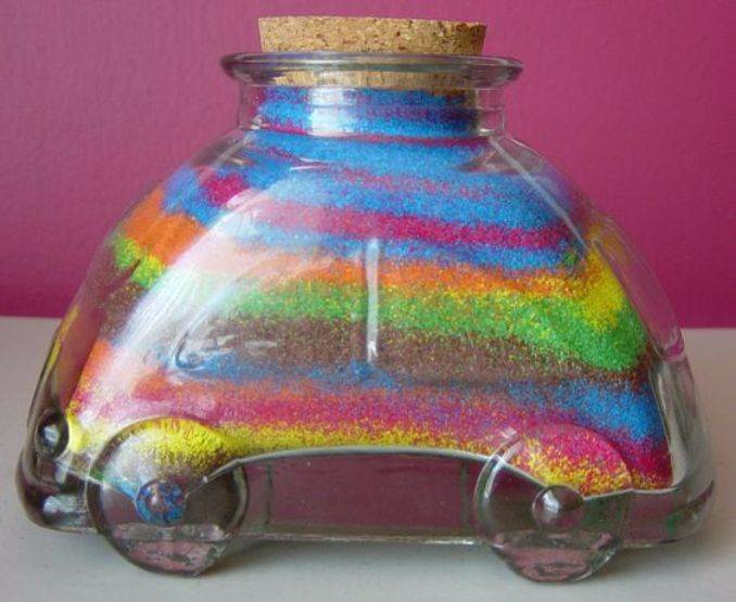 DIY Coloured Sand In A Bottle For Different Occasions.