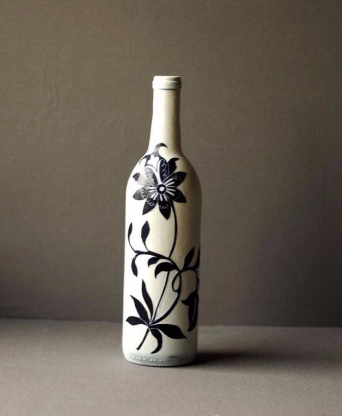 decorate Glass bottles with Decoupage (13)