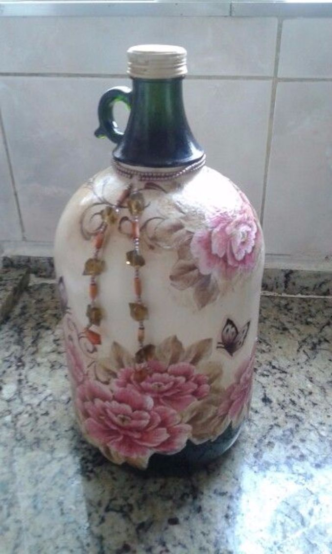 decorate Glass bottles with Decoupage (14)