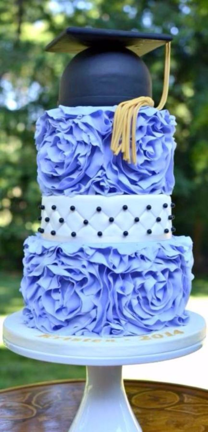 Simple but Creative Graduation Cakes and Cupcakes (1)