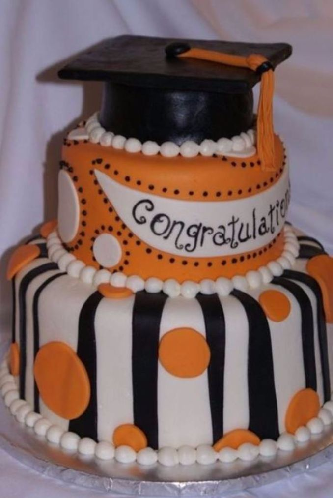 Simple but Creative Graduation Cakes and Cupcakes (3)