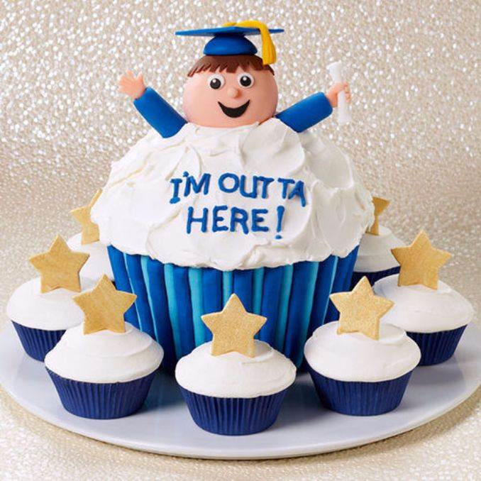 Simple but Creative Graduation Cakes and Cupcakes (4)