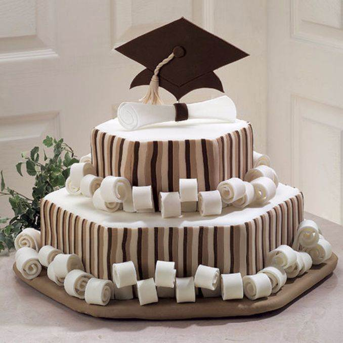Simple but Creative Graduation Cakes and Cupcakes (8)