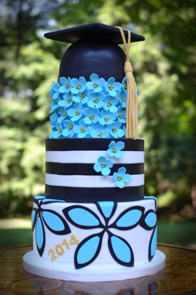 Simple but Creative Graduation Cakes and Cupcakes (9)