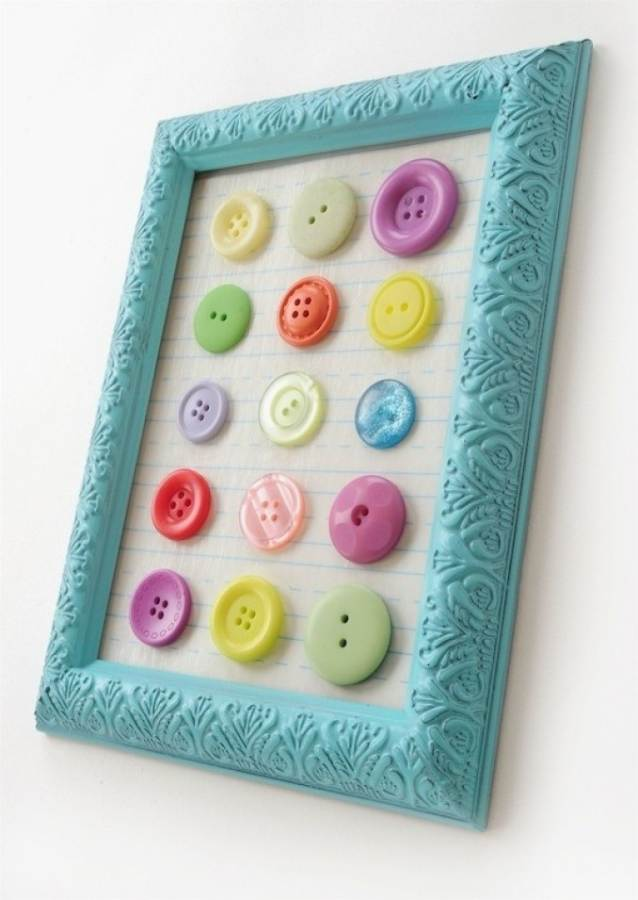 Creative DIY Craft Decorating Ideas Using Colorful Buttons (17)