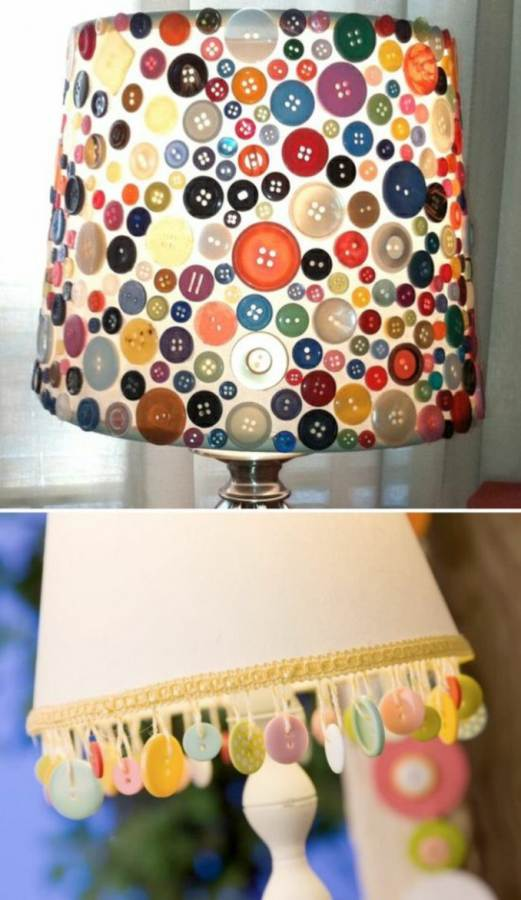 Creative DIY Craft Decorating Ideas Using Colorful Buttons (30)