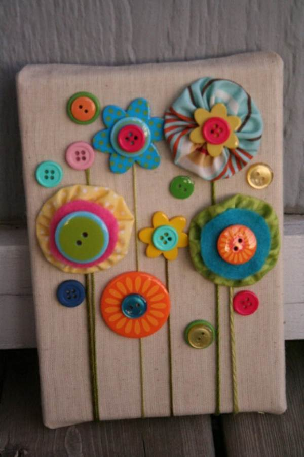 Creative DIY Craft Decorating Ideas Using Colorful Buttons (33)