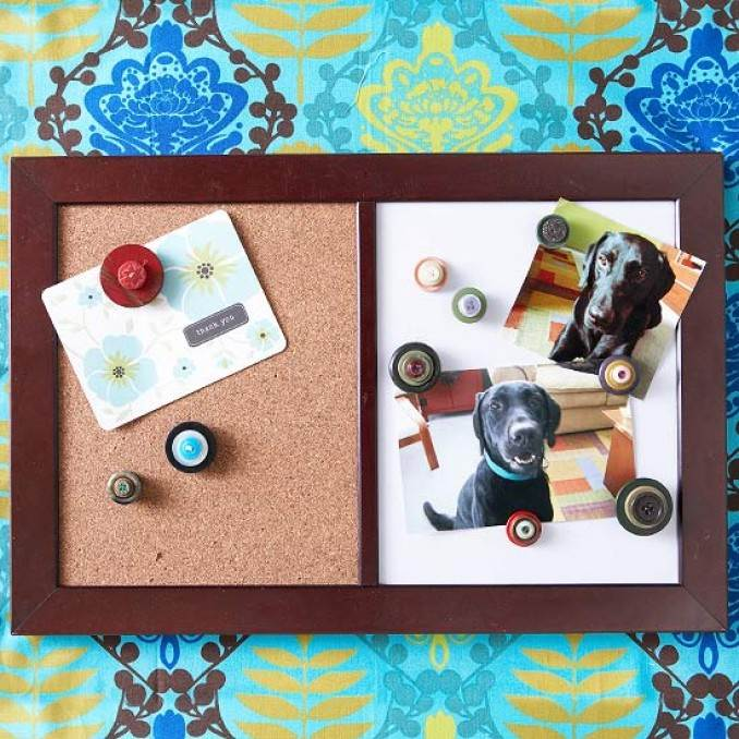 Creative DIY Craft Decorating Ideas Using Colorful Buttons (57)