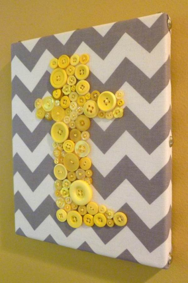 Creative DIY Craft Decorating Ideas Using Colorful Buttons (60)