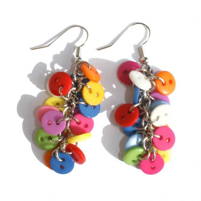 Creative DIY Craft Decorating Ideas Using Colorful Buttons (74)