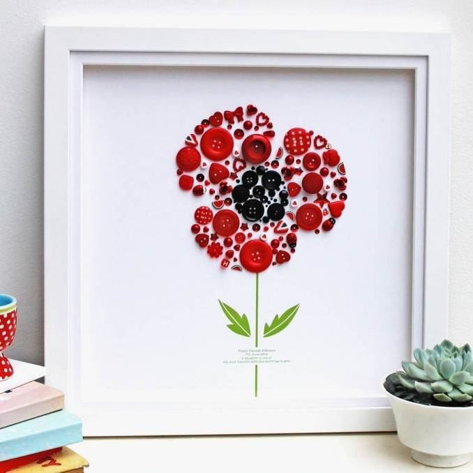 Creative DIY Craft Decorating Ideas Using Colorful Buttons (90)