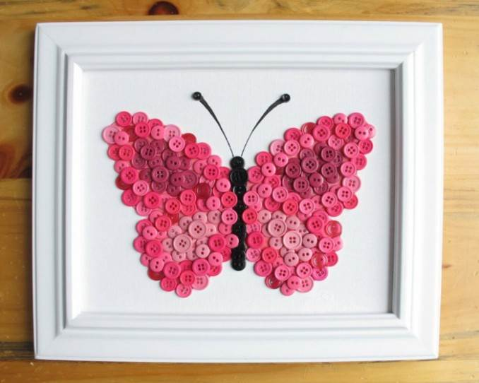 Creative DIY Craft Decorating Ideas Using Colorful Buttons (98)