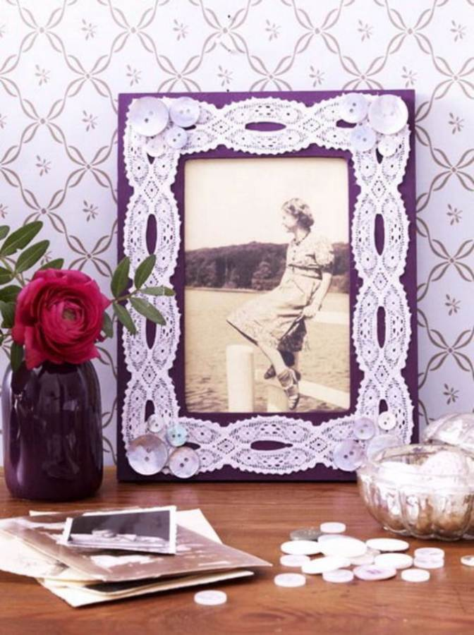Easy DIY Photo and Picture Frame Decorating Crafts (4)