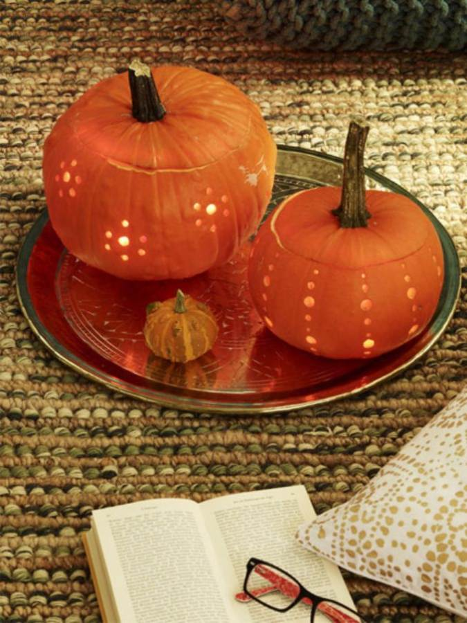 Great No Carve Halloween Pumpkin Decorating Ideas (1)