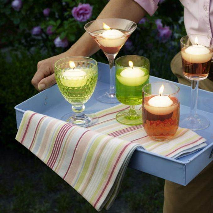 Holiday Romance In Miniature Summer Candle Centerpiece Ideas (1)