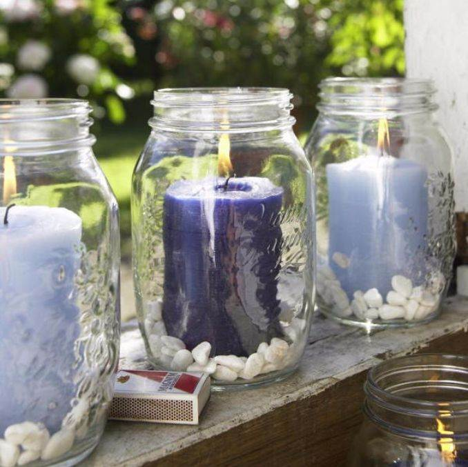 Holiday Romance In Miniature Summer Candle Centerpiece Ideas (18)