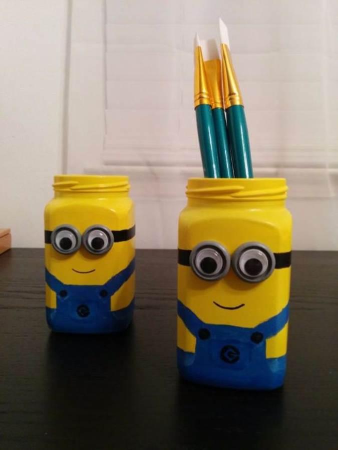 DIY pencil holder ideas for your home desk decoration (15)
