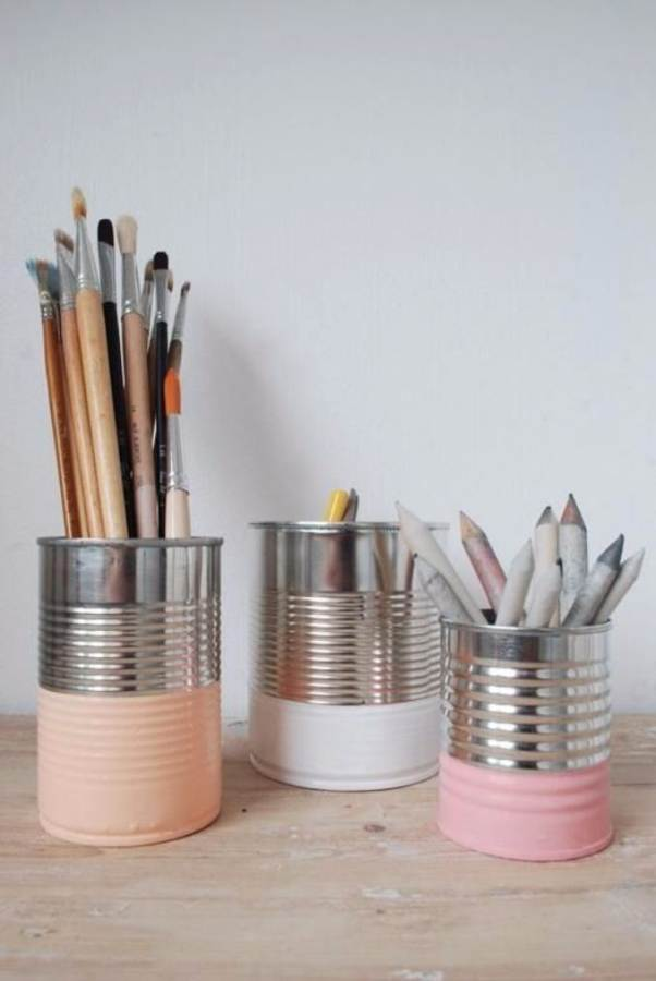 DIY pencil holder ideas for your home desk decoration (22)