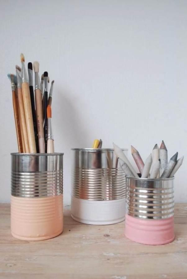 DIY pencil holder ideas for your home desk decoration (22)