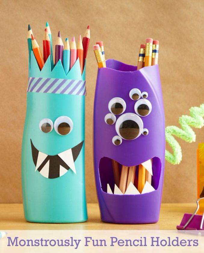 DIY pencil holder ideas for your home desk decoration (29)