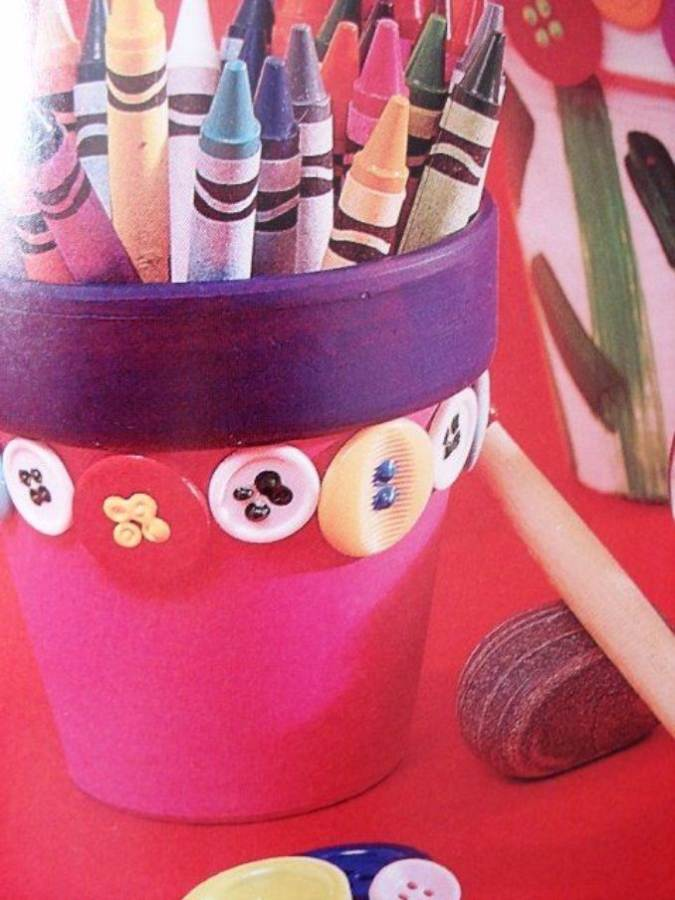 DIY pencil holder ideas for your home desk decoration (30)