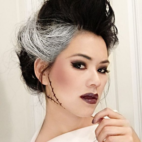 Bride-of-Frankenstein-Halloween-Makeup