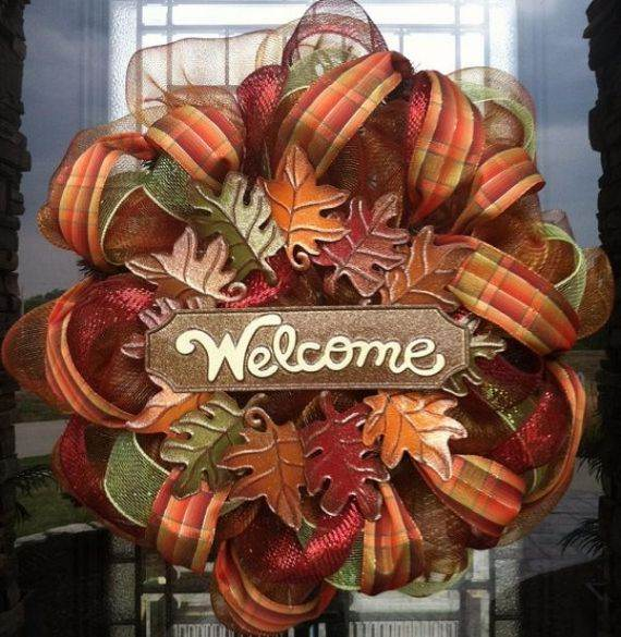 fall-deco-mesh-wreath-ideas-diy-front-door-decorating-ideas-autumn-decorations