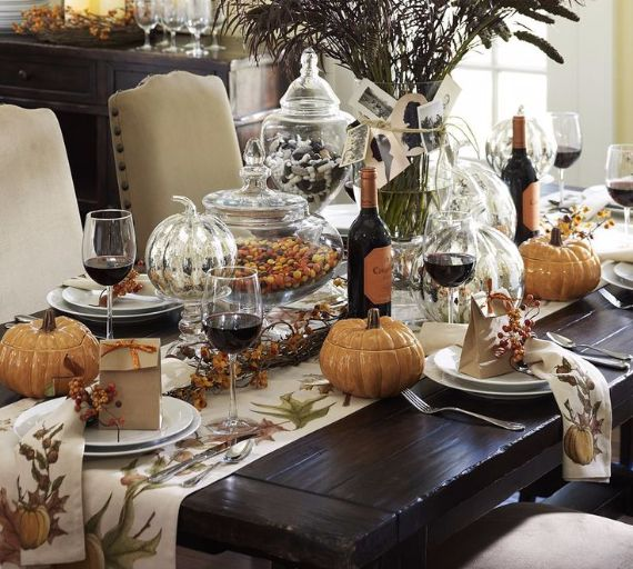 Elegant And Easy Thanksgiving Table Decorations Ideas Family Holiday Net Guide To Family Holidays On The Internet