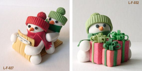 Polymer clay for Christmas decorations (1)