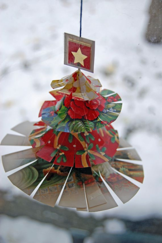 recycled christmas craft ideas card projects decorative ways to recycle 5315