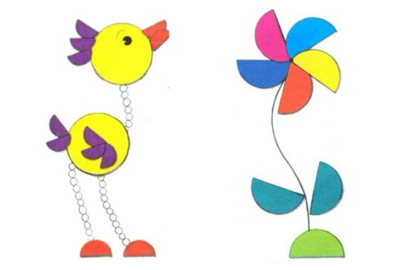 How to Make Craft Ideas with Paper Circles for Children  (11)