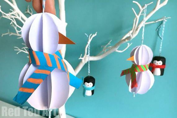 Paper-Snowman-Ornament-DIY-