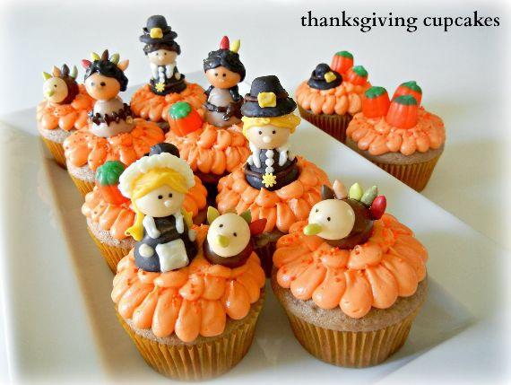 Thanksgiving Cupcake Cute Decorating Ideas family holidaynet