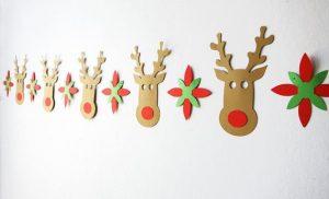 Christmas Decorations, Reindeer Garland