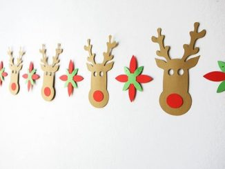 Christmas Decorations, Reindeer Garland