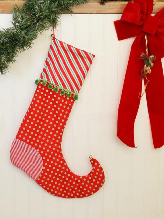 DIY Elf Christmas Stockings