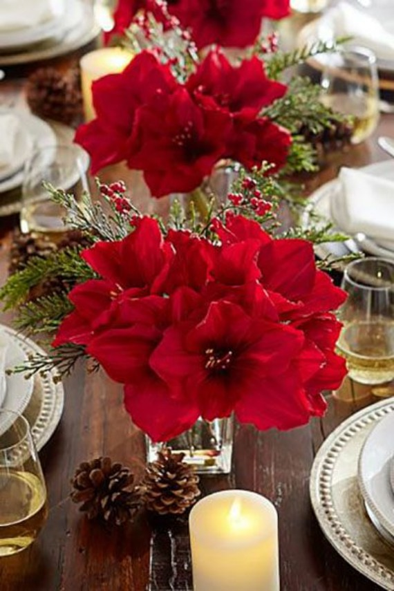Faux Amaryllis Composed Arrangement