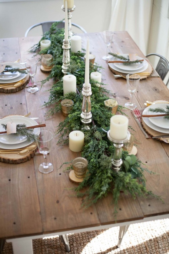 farmhouse style Christmas tablescape