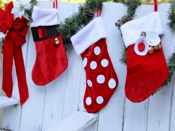 Kids to Bling-Out Store-Bought Christmas Stockings
